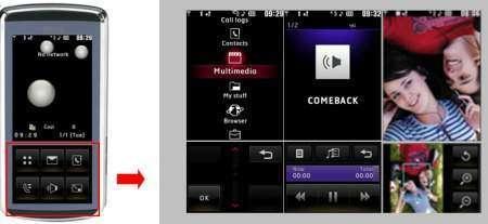 LG представляет интерактивный телефон с виртуальной клавиатурой