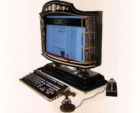 Компьютер в викторианском стиле